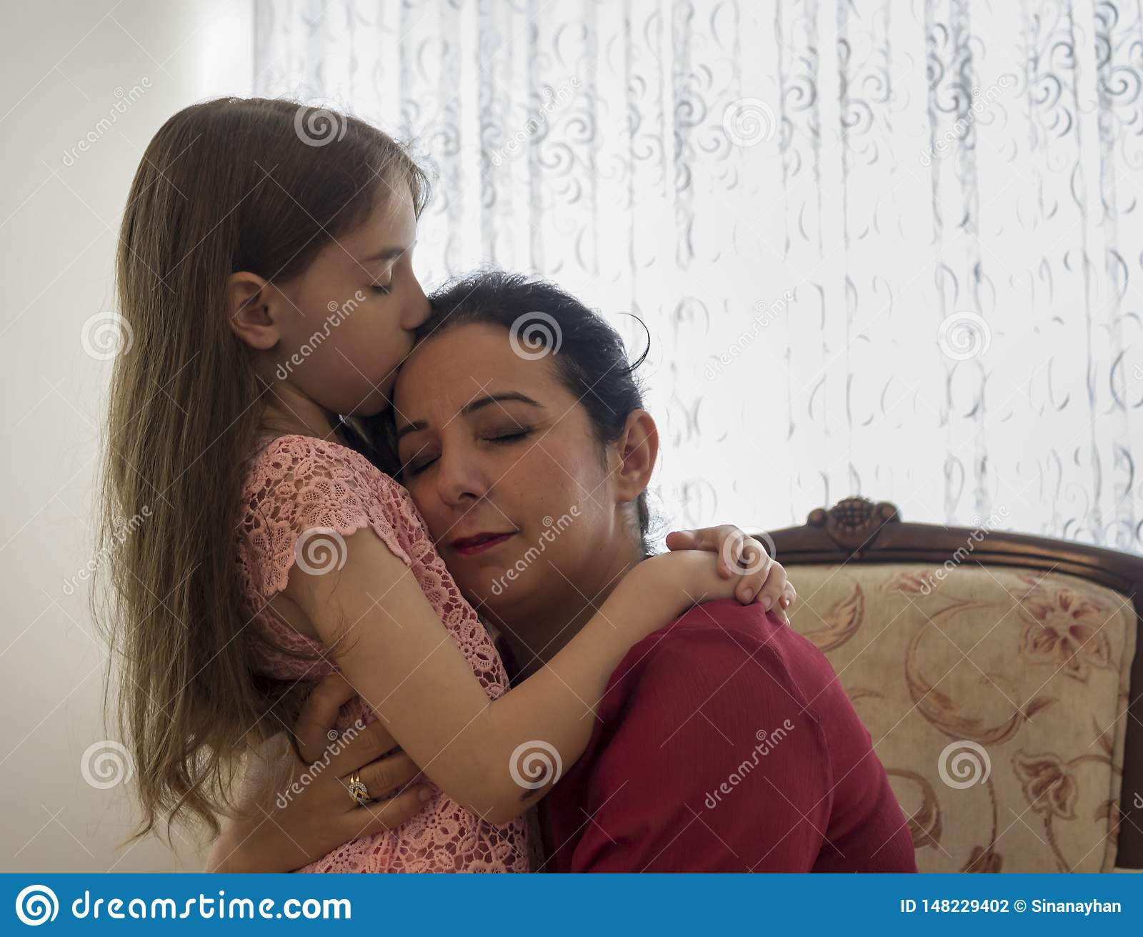 Happy mother`s day with children