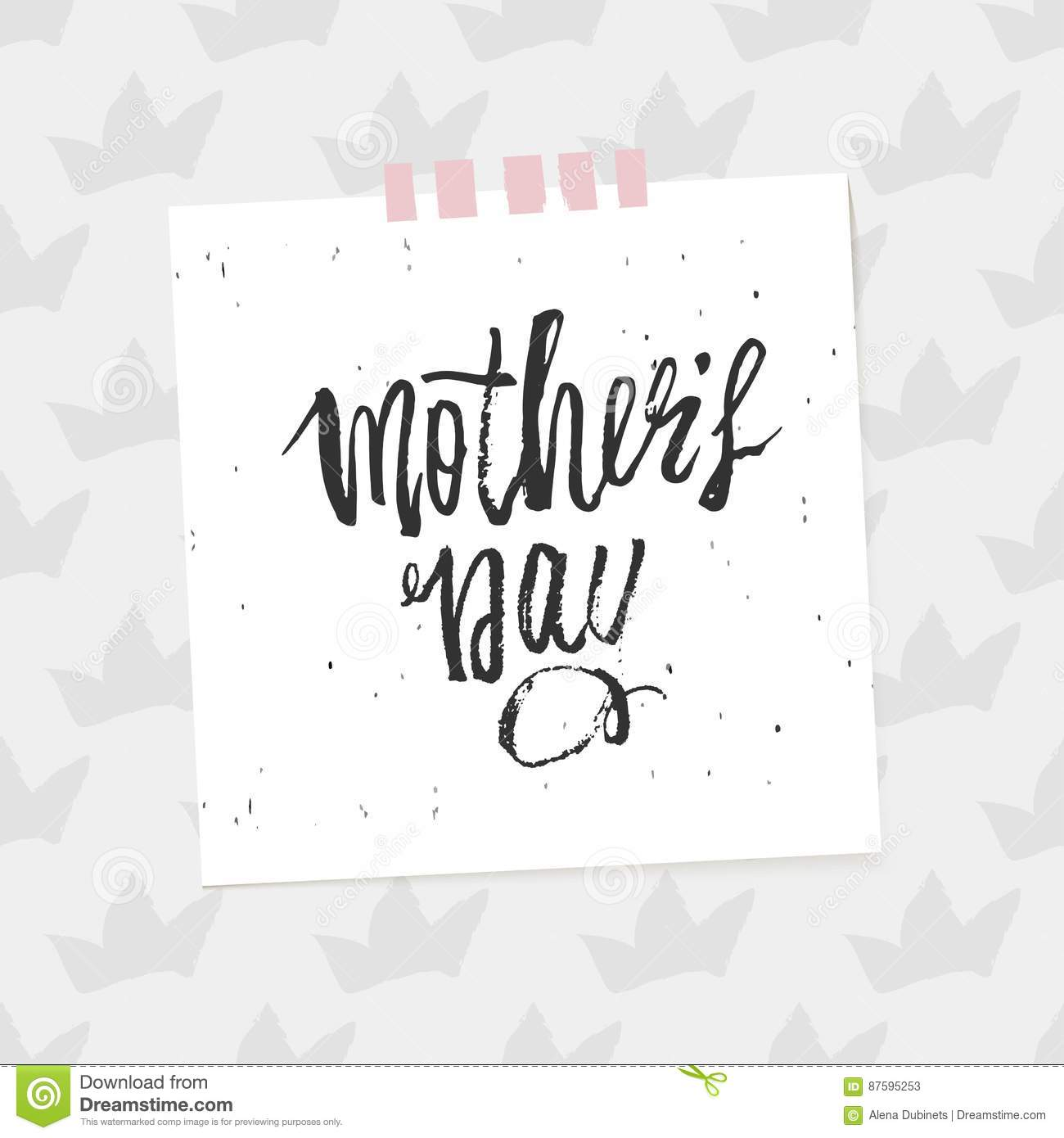 Happy Mother S Day Design Background Lettering Design