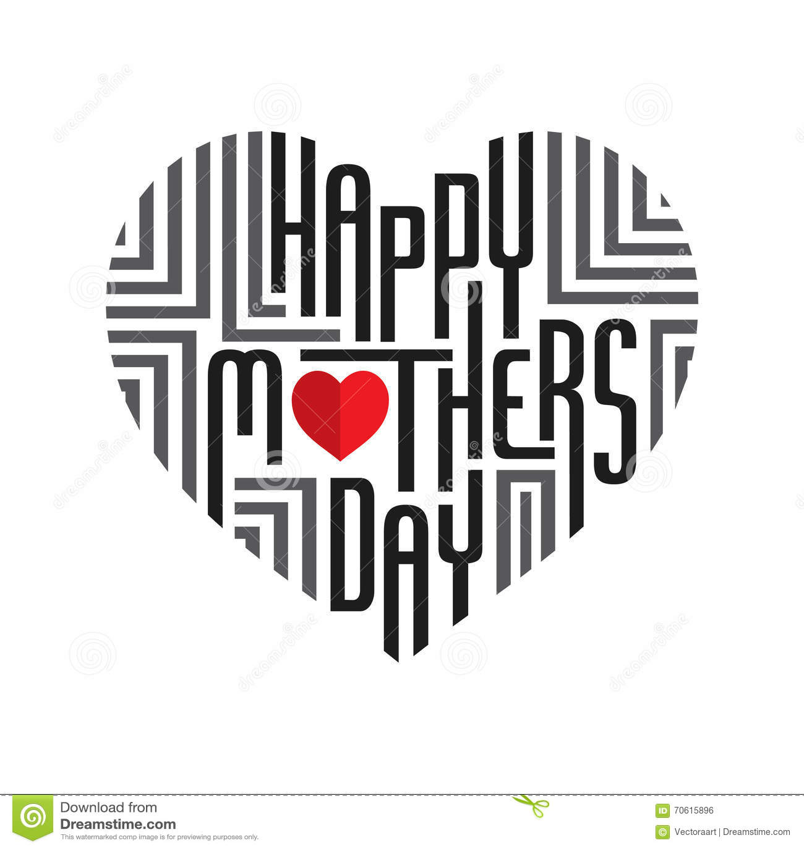 happy mother 39 s day design stock vector image 70615896. Black Bedroom Furniture Sets. Home Design Ideas