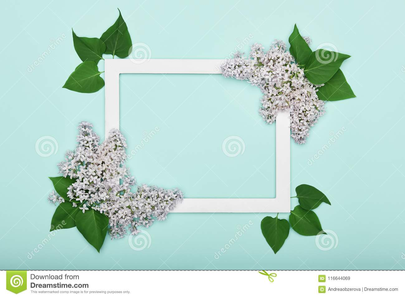 Happy Mother`s Day, Father`s day, Women`s Day or Birthday Pastel Candy Blue Colour Background. Floral flat lay.