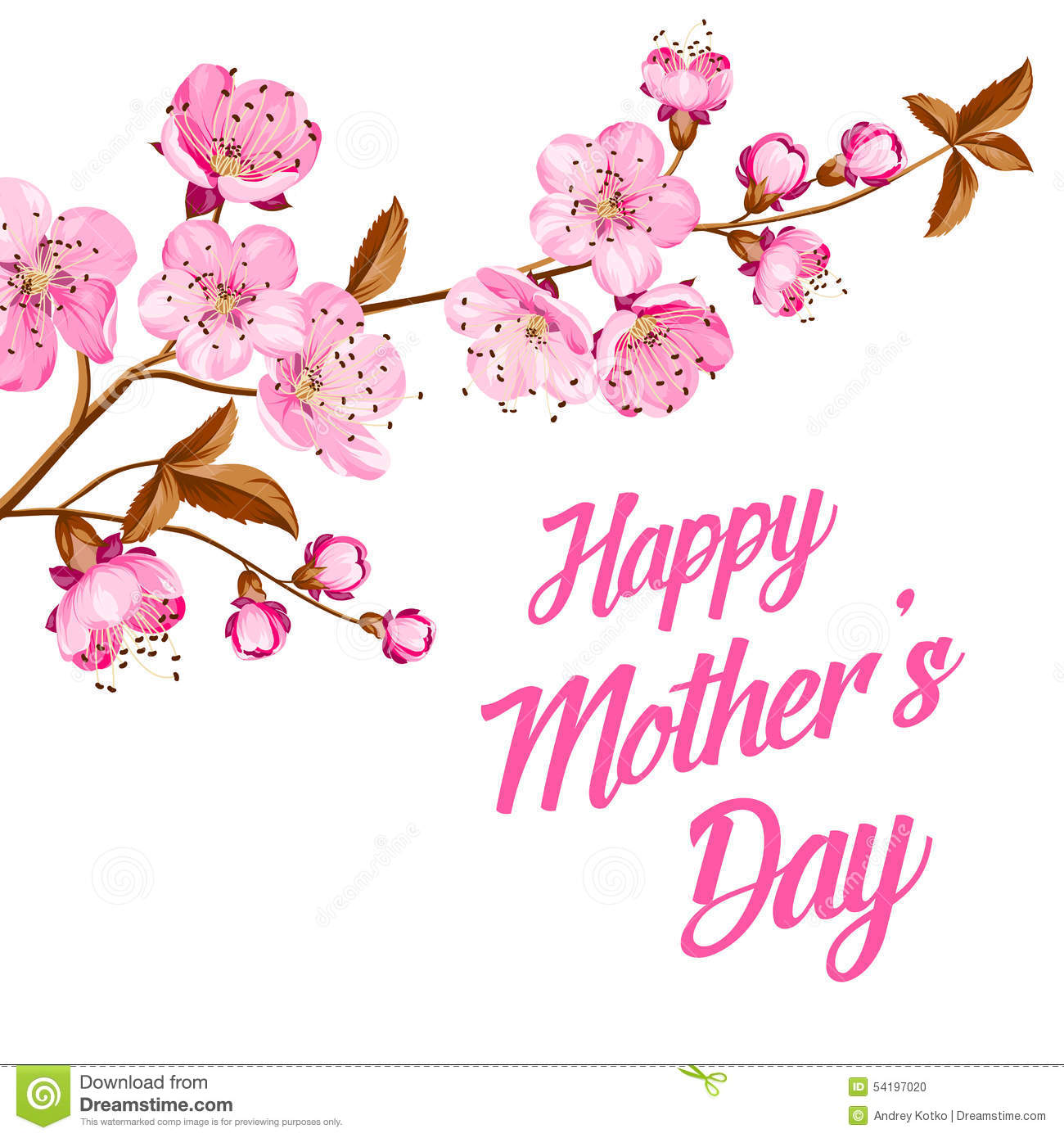 Happy mothers day greeting card with custom text stock vector download comp m4hsunfo