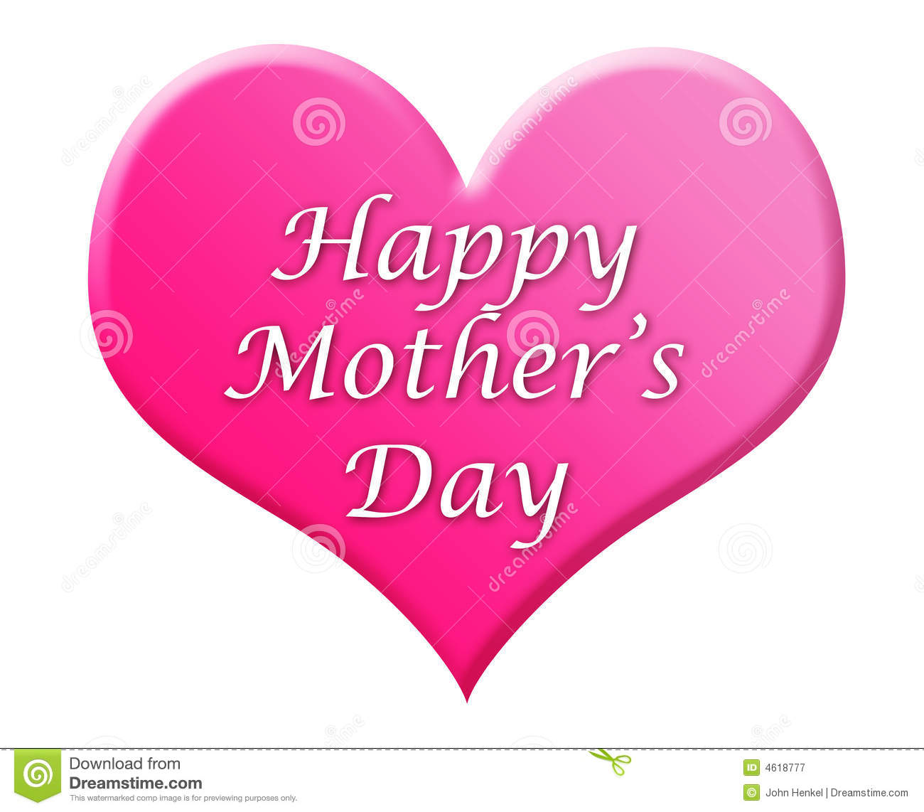 happy mother s day heart illustration stock illustration