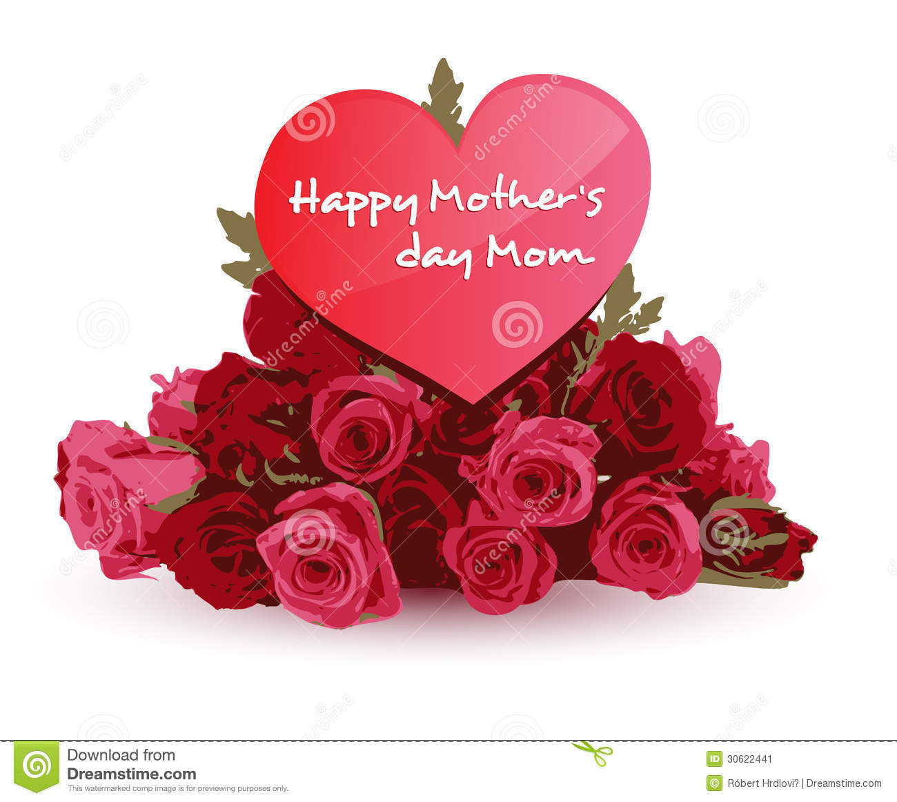 Happy Mothers Day Stock Vector Image Of Celebration