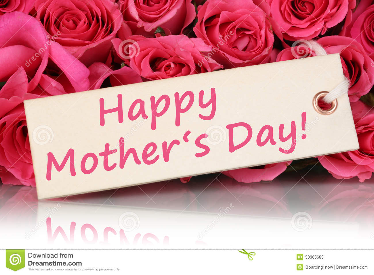 happy mother's day with roses flowers stock photo  image, Natural flower