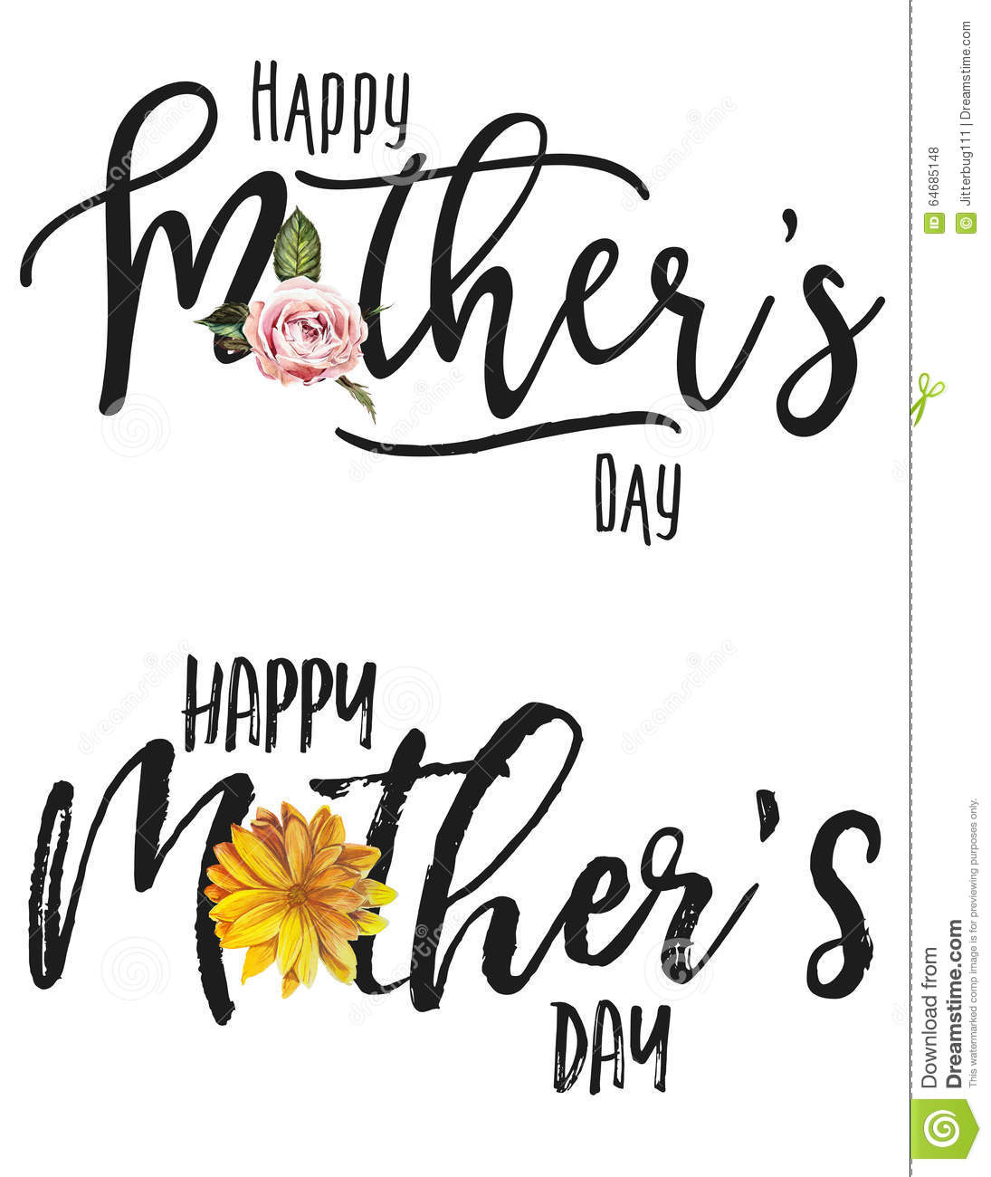 Happy Mother s Day Set stock illustration. Illustration of ...