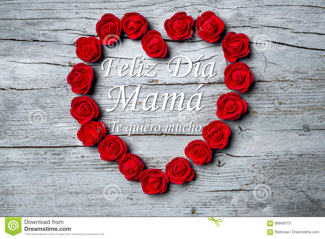 Happy Mother`s Day, Spanish Language Stock Image - Image of design ...