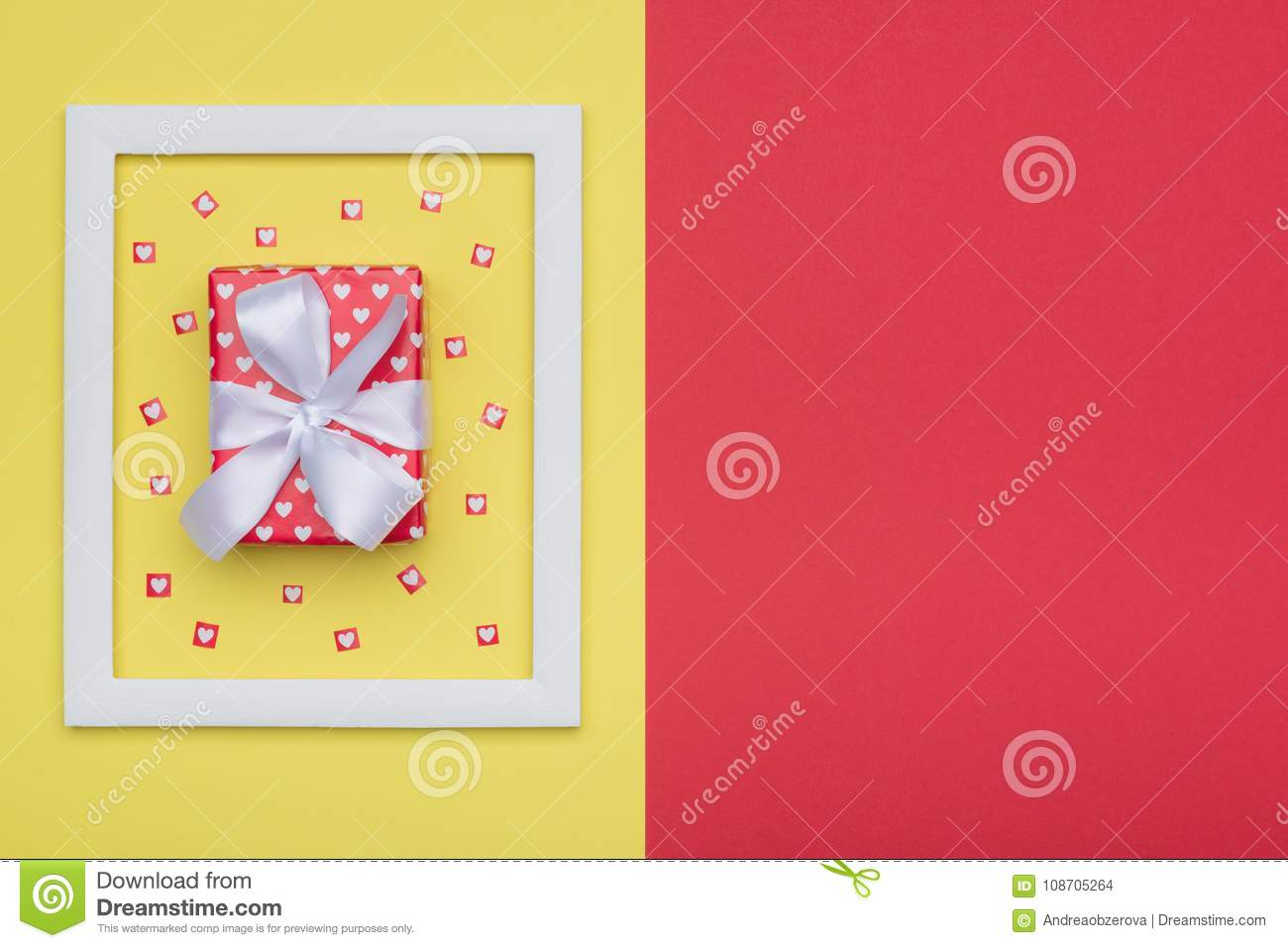 Happy Mother`s Day, Women`s Day, Valentine`s Day or Birthday Background. Flat lay minimal concept.