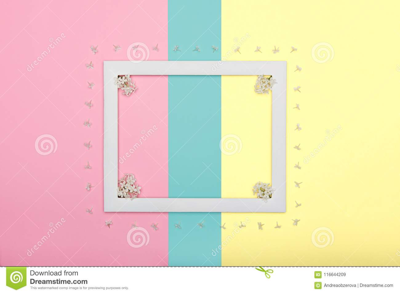 Happy Mother`s Day, Women`s Day, Valentine`s Day or Birthday Pastel Candy Colours Background. Floral flat lay.
