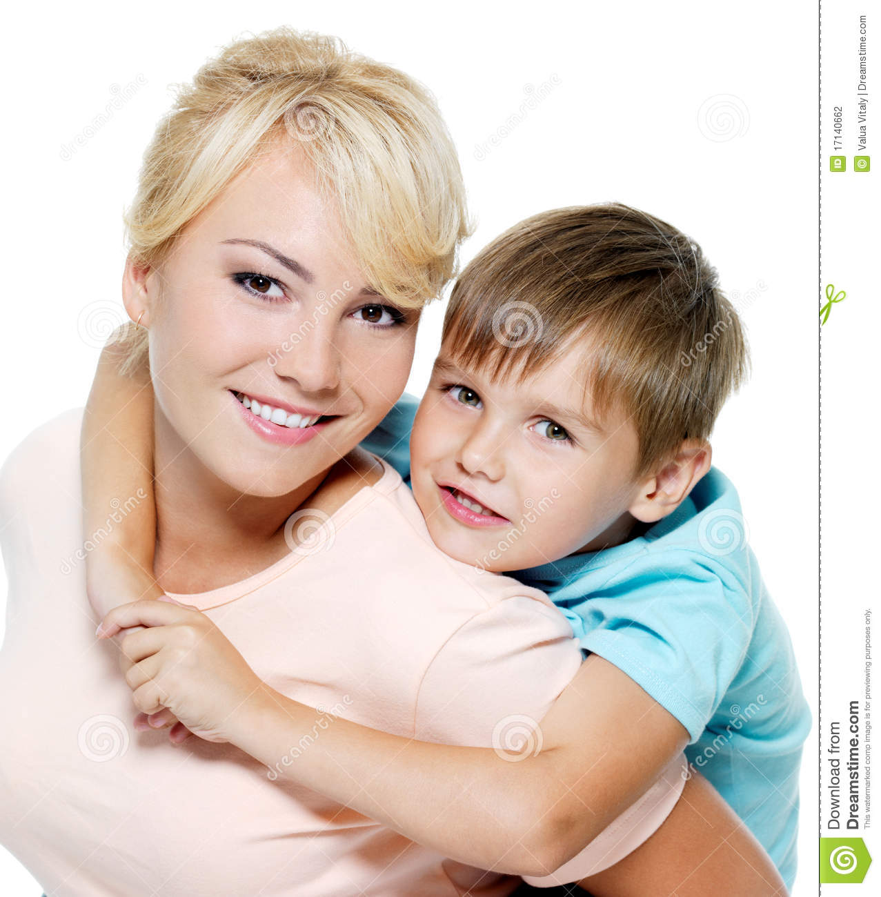 Happy Mother And Son Of Six Years Stock Photography