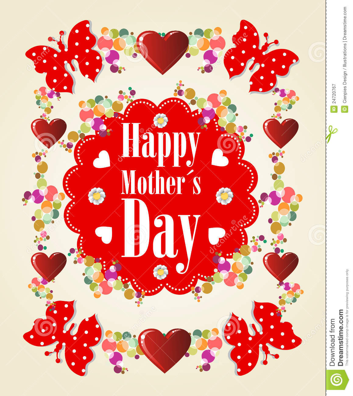 Happy Mothers Day Background Cartoon Vector ...