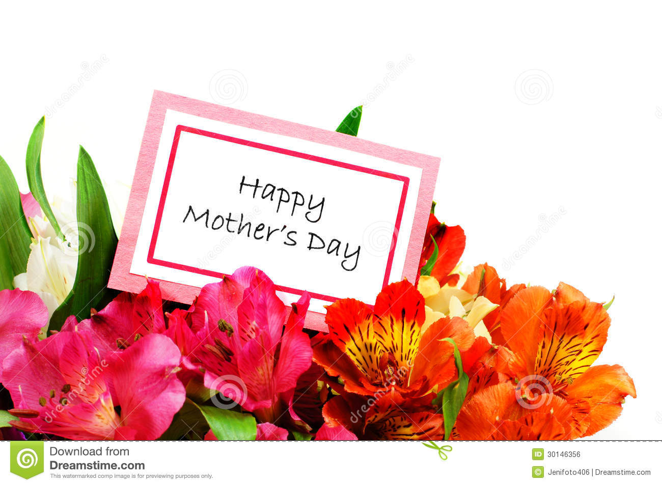 Happy Mothers Day Stock Photo Image Of Greeting Bright 30146356