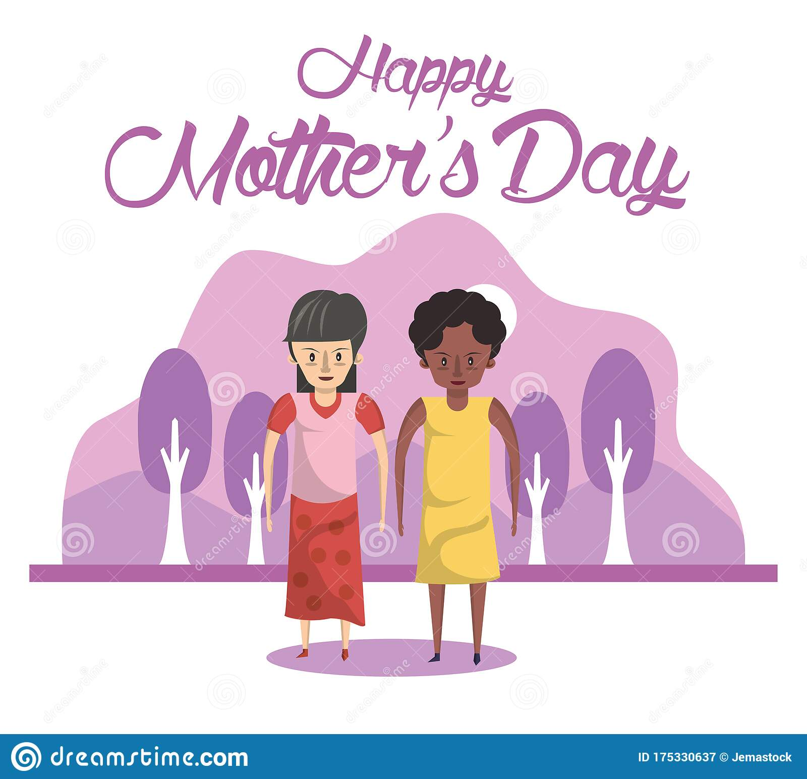 Happy Mothers Day Interracial