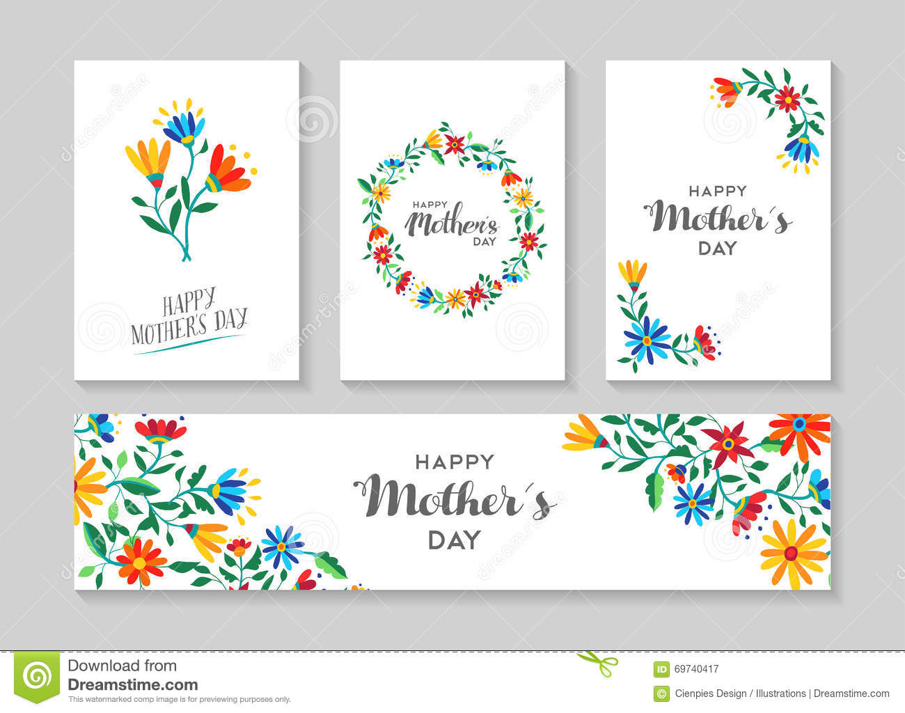 Royalty Free Vector. Download Happy Mothers Day Card ...