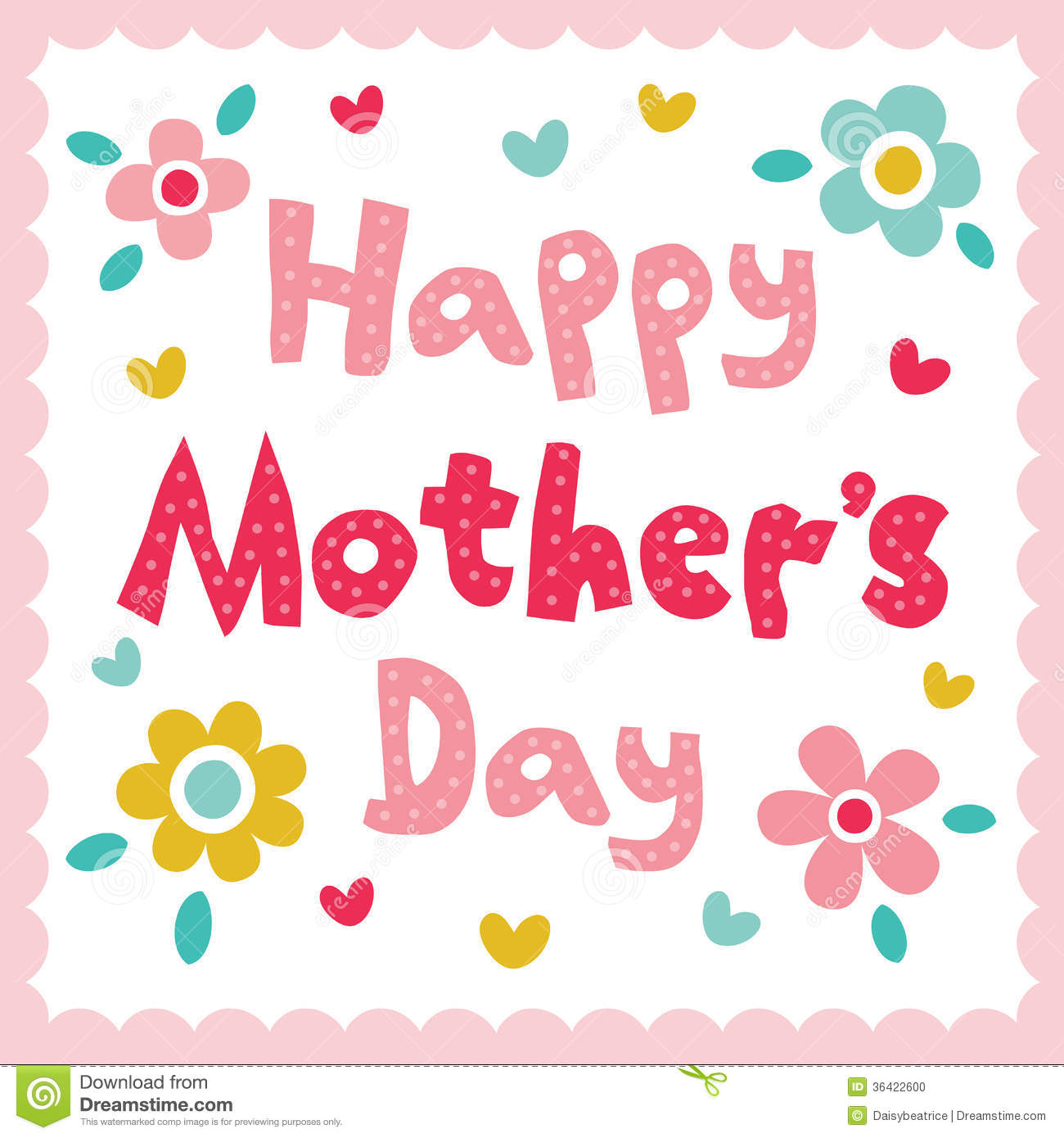 Happy mothers day card stock vector illustration of dots 36422600 happy mothers day card kristyandbryce Image collections