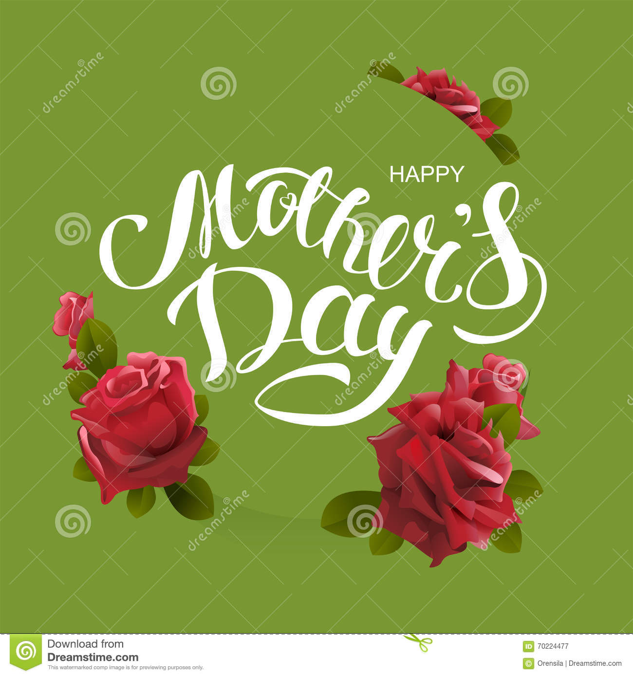 Happy mothers day greeting card lettering text and flower rose happy mothers day greeting card lettering text and flower rose kristyandbryce Choice Image