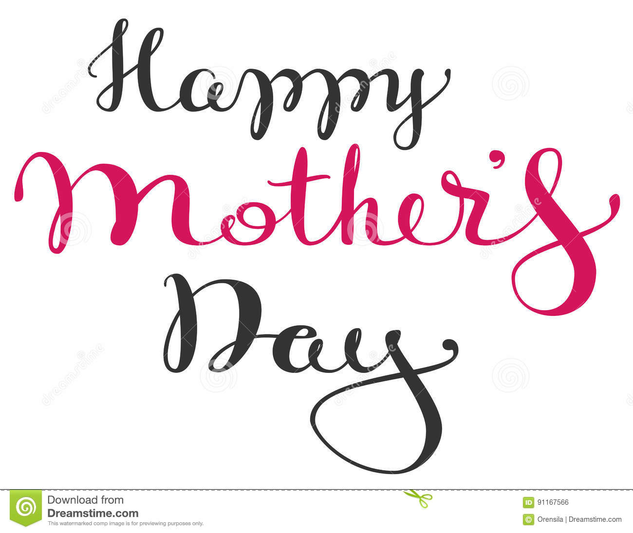 Happy mothers day handwritten lettering text for greeting card happy mothers day handwritten lettering text for greeting card kristyandbryce Choice Image