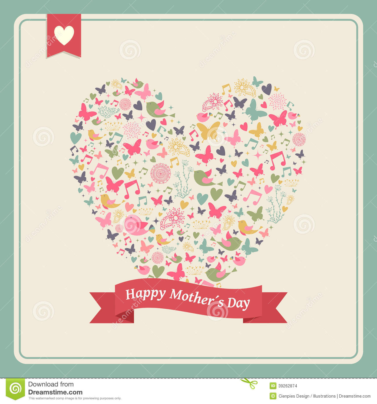 Happy mothers day heart elements composition stock vector happy mothers day heart elements composition kristyandbryce Choice Image