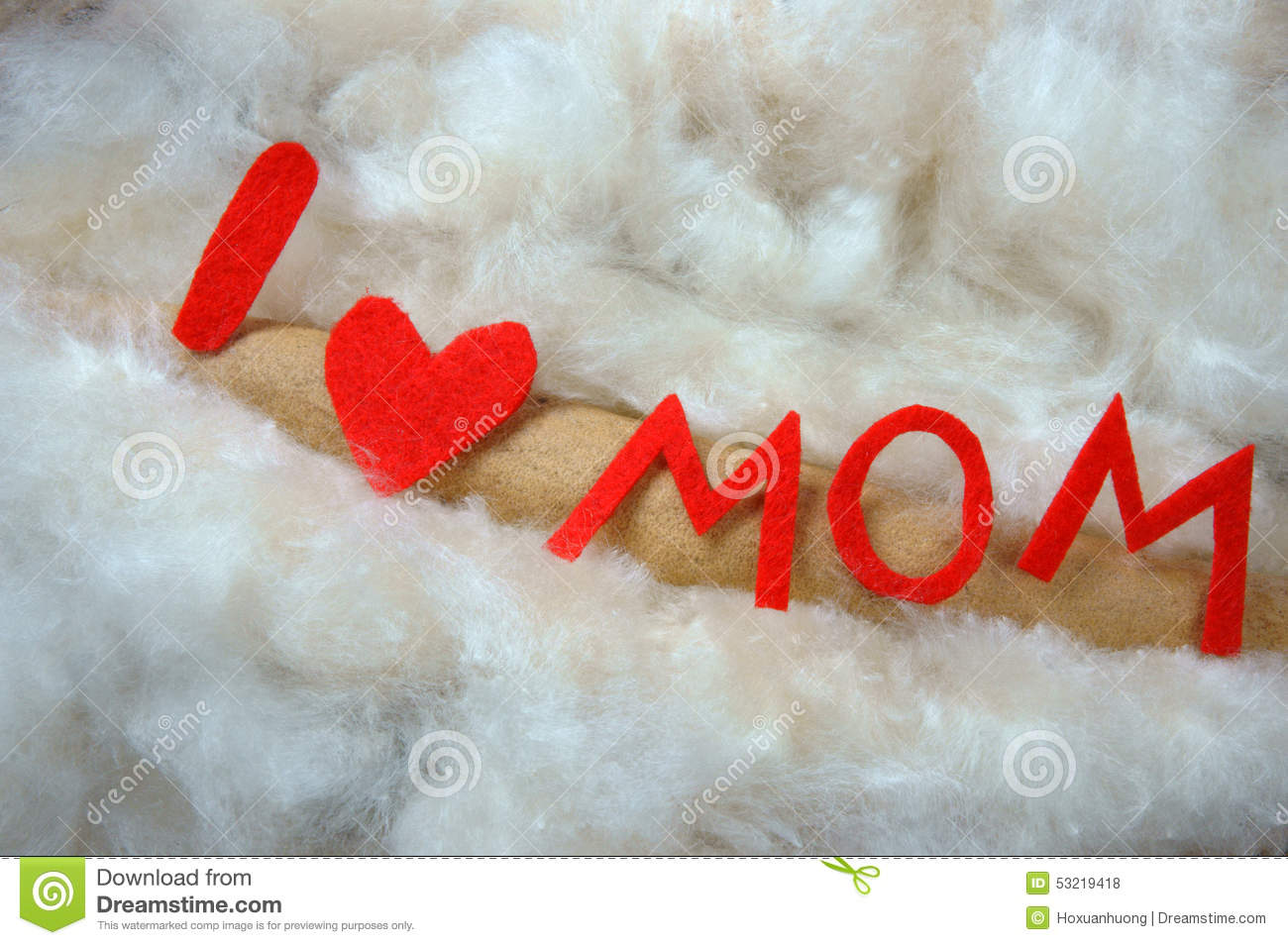 Happy Mothers Day I Love You Mom Stock Photo Image Of Family