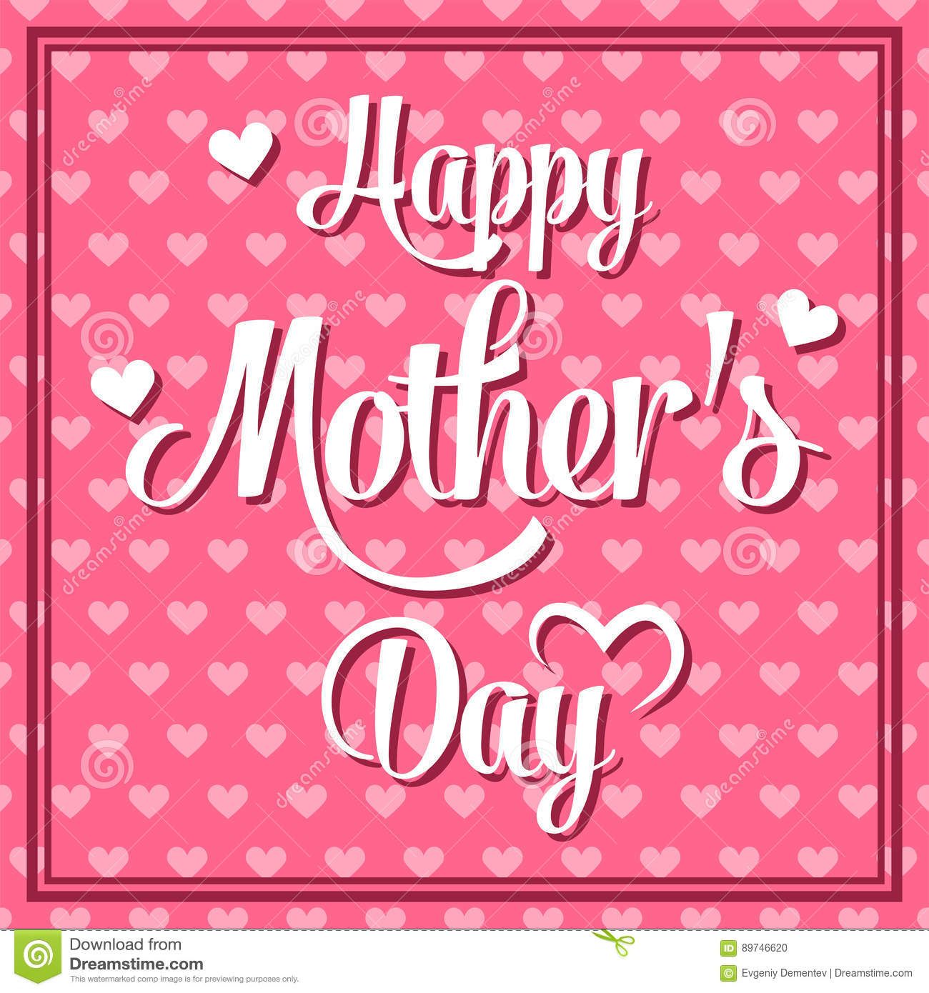 happy mothers day lettering calligraphic emblem vector design