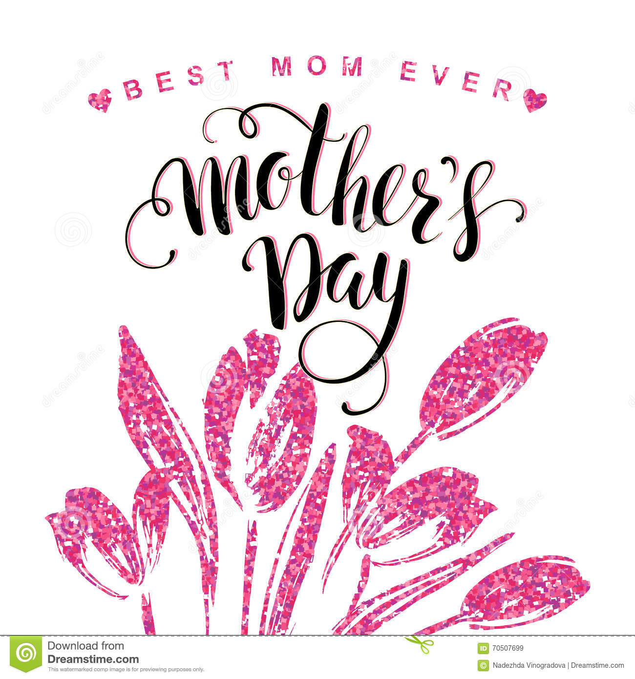 Happy mothers day lettering mothers day greeting card stock happy mothers day lettering mothers day greeting card heart mama kristyandbryce Image collections