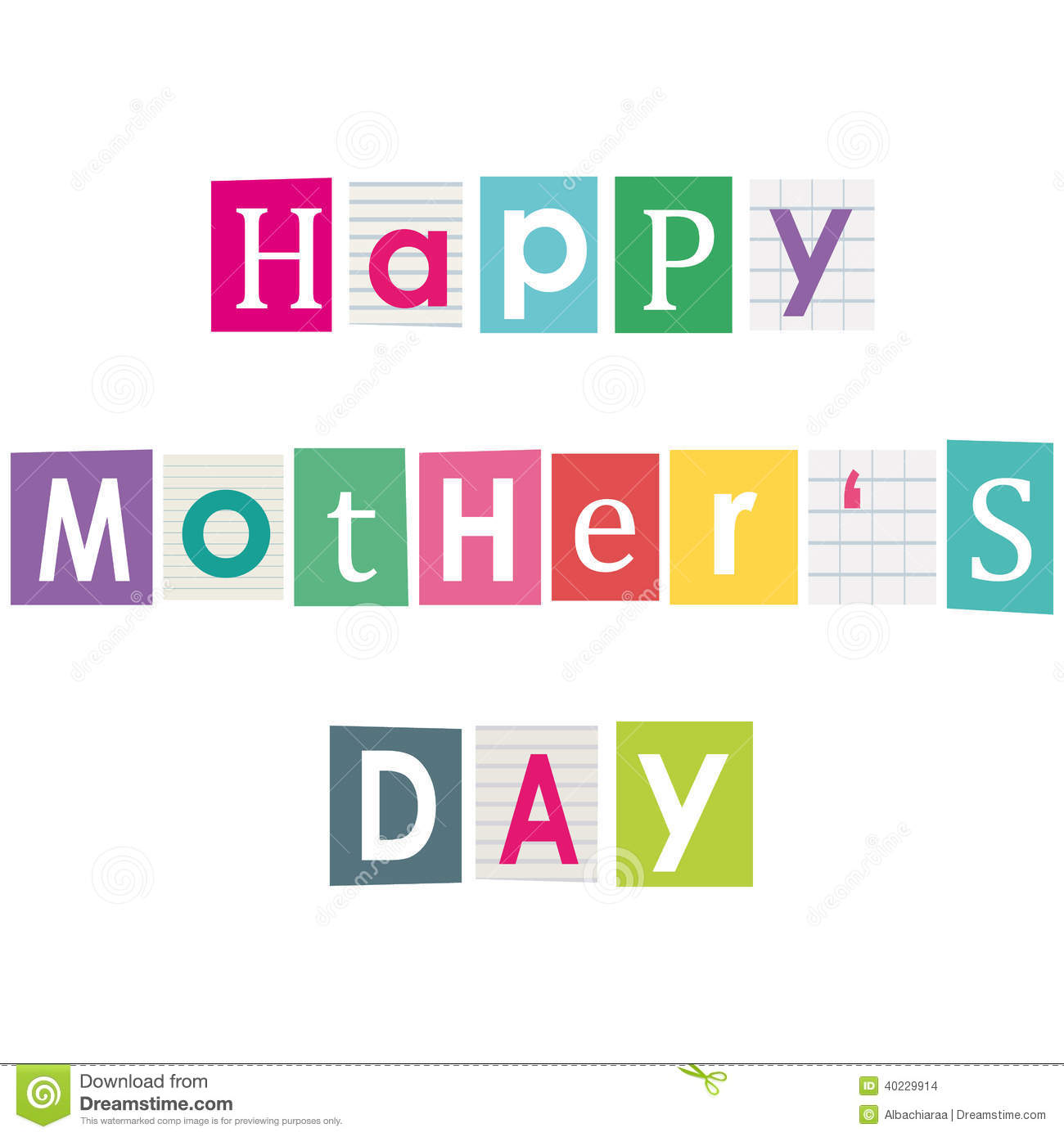Happy mothers day stock vector illustration of newspaper 40229914 download comp spiritdancerdesigns Gallery