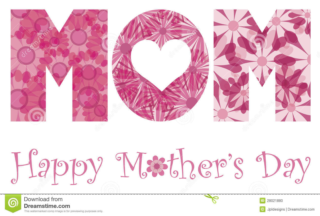 Happy Mothers Day Mom Alphabet Flowers Stock Vector ...