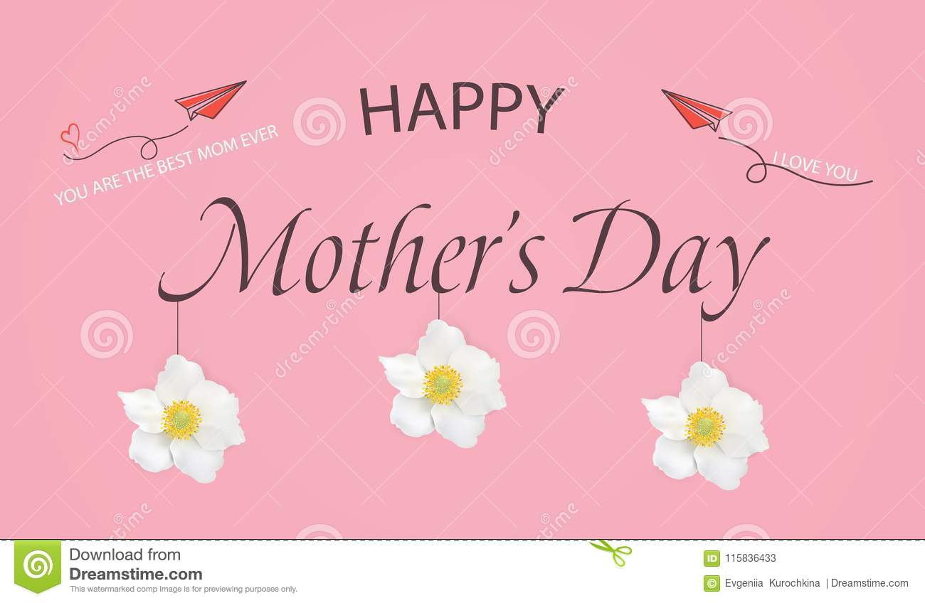 Happy Mothers Day Template Greeting Card. You Are The Best Mom Ever ...