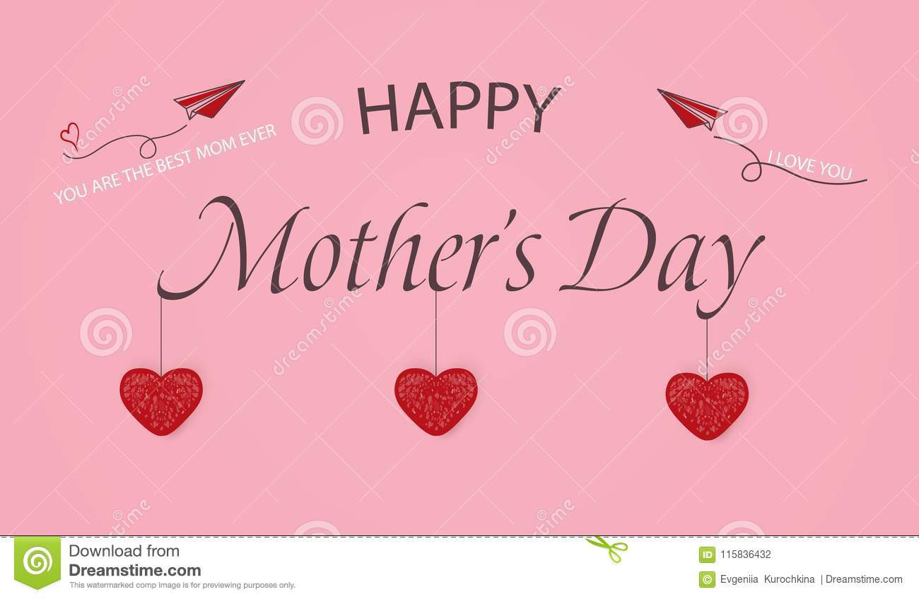 happy mothers day template greeting card you are the best mom ever