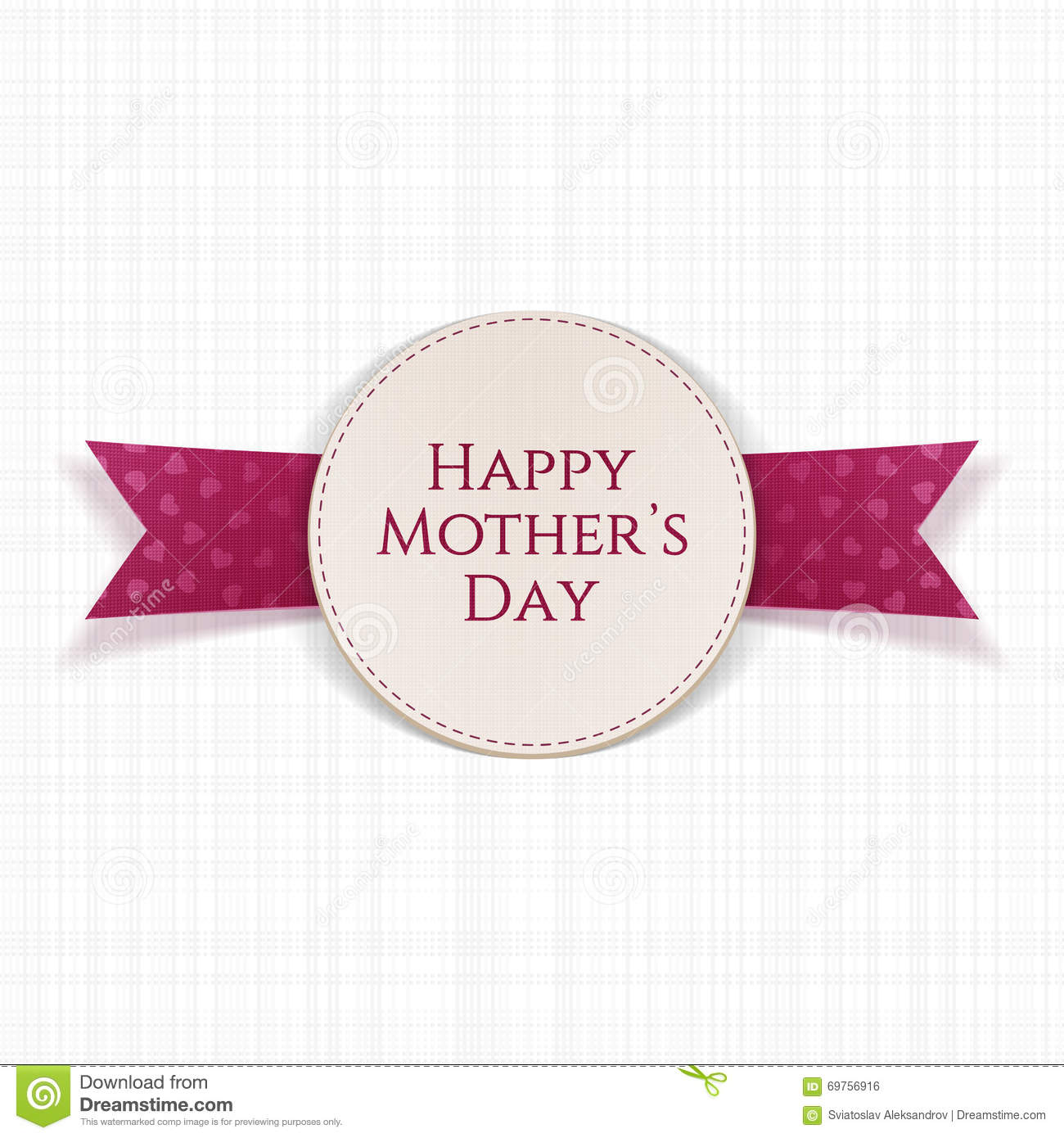 Happy mothers day text on greeting card stock vector happy mothers day text on greeting card kristyandbryce Choice Image
