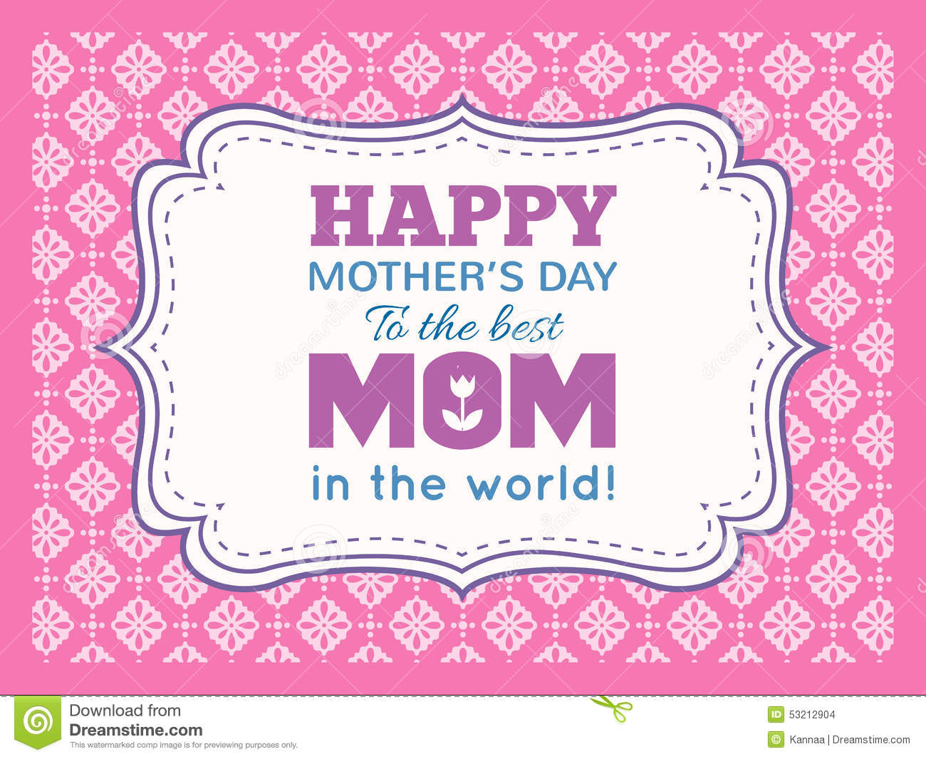Happy Mothers Day Typography Letter Font Type Stock Illustration