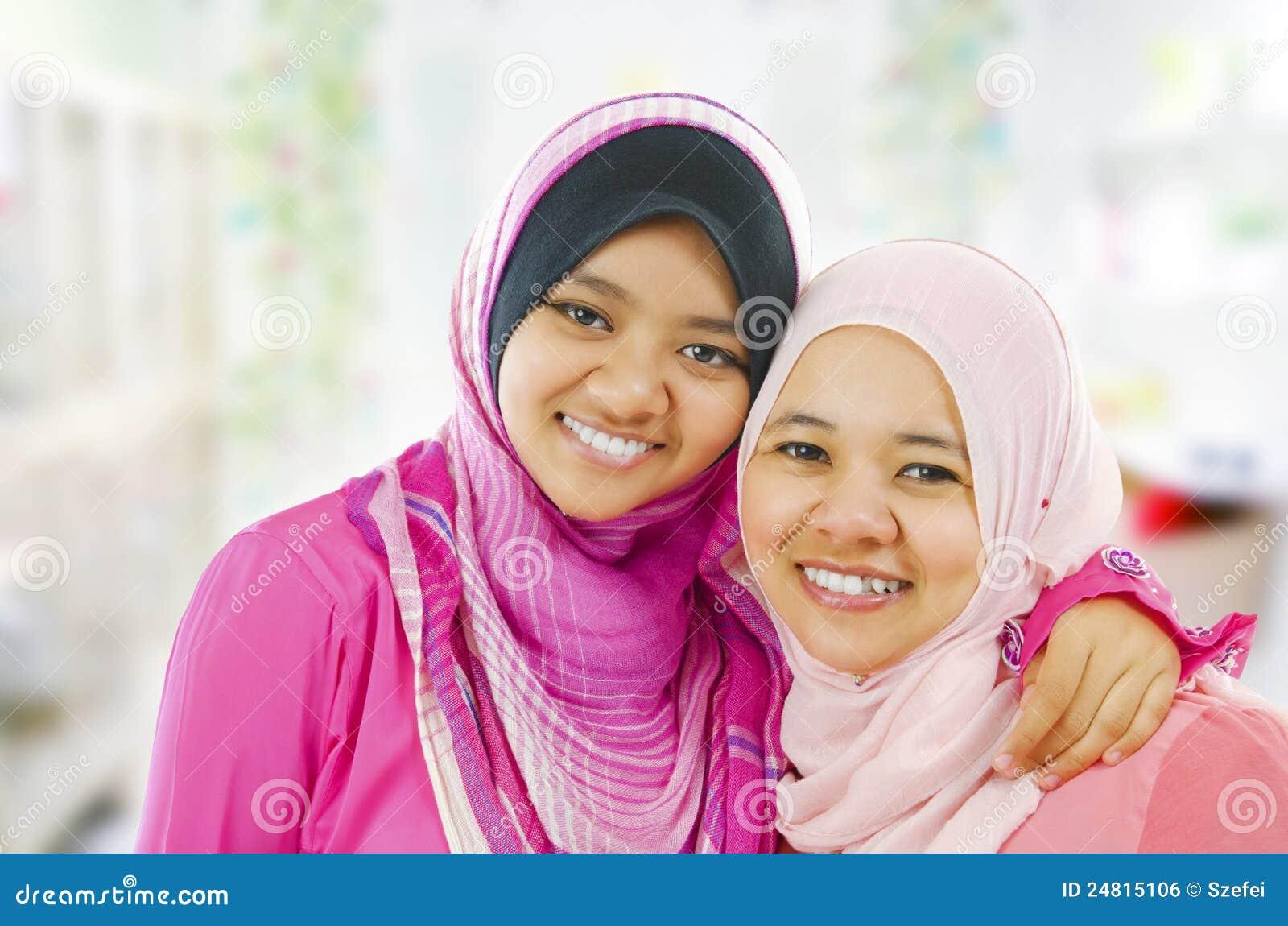 Happy Muslim women