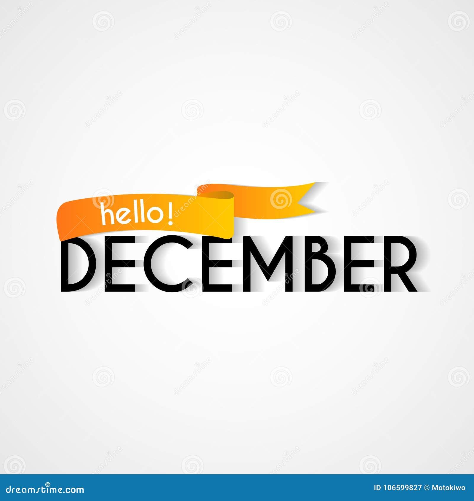 Happy new month december background design stock vector happy new month december background design m4hsunfo