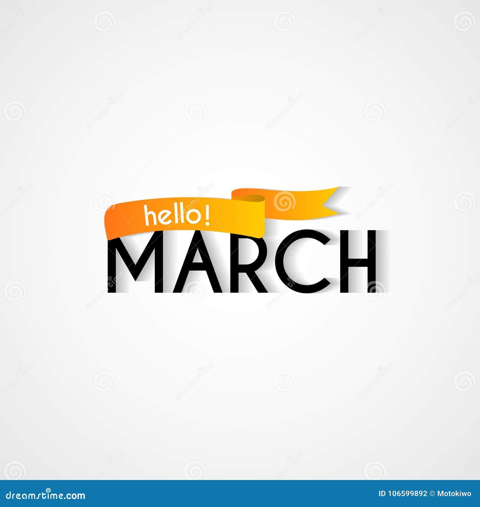 Happy new month march background design stock illustration happy new month march background design m4hsunfo