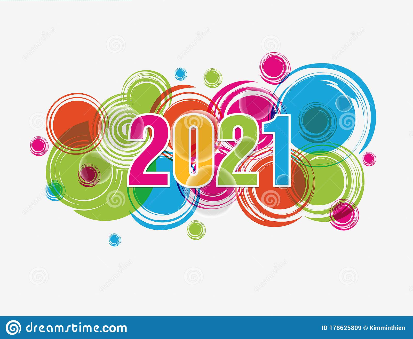 Happy new year 2021 stock vector. Illustration of holiday ...
