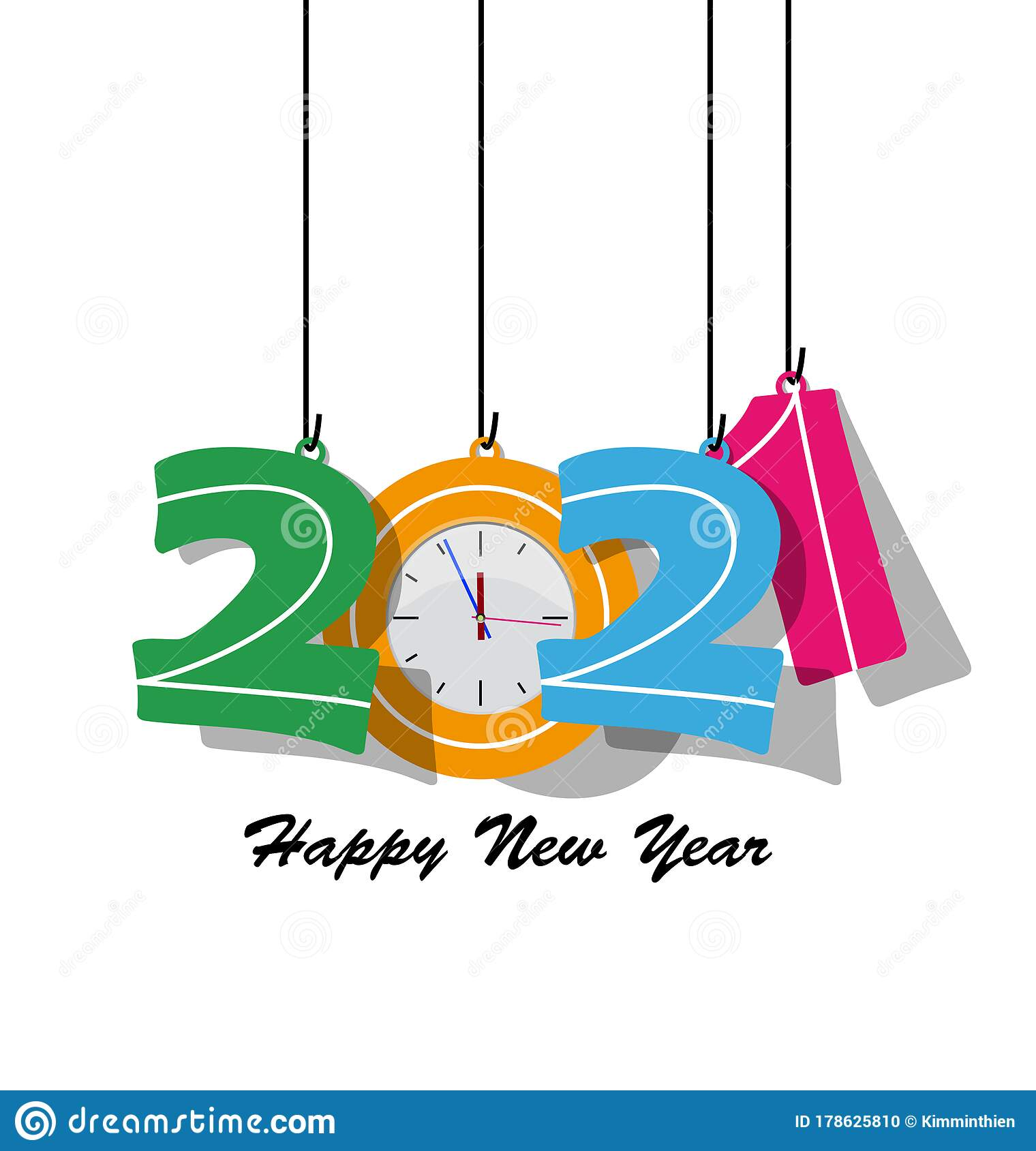 Happy new year 2021 stock vector. Illustration of year ...