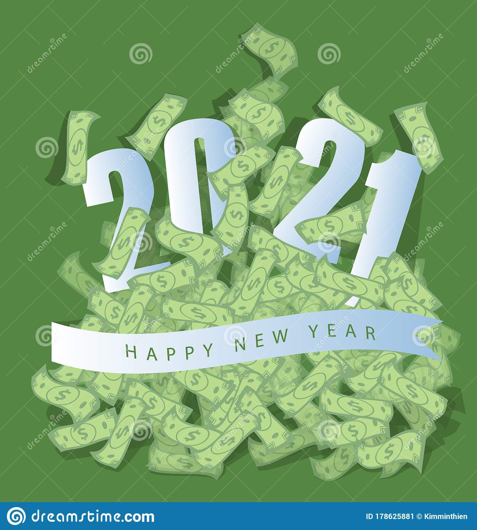 Happy new year 2021 stock vector. Illustration of calendar ...