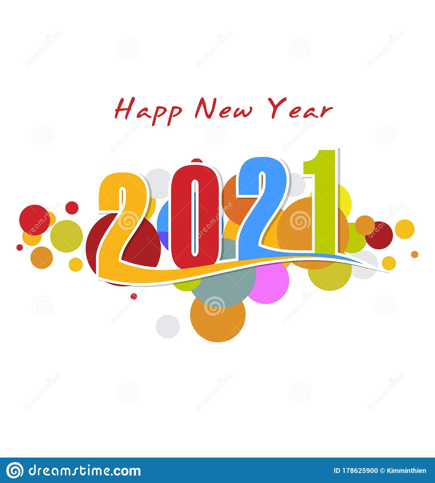 Happy new year 2021 stock vector. Illustration of abstract ...