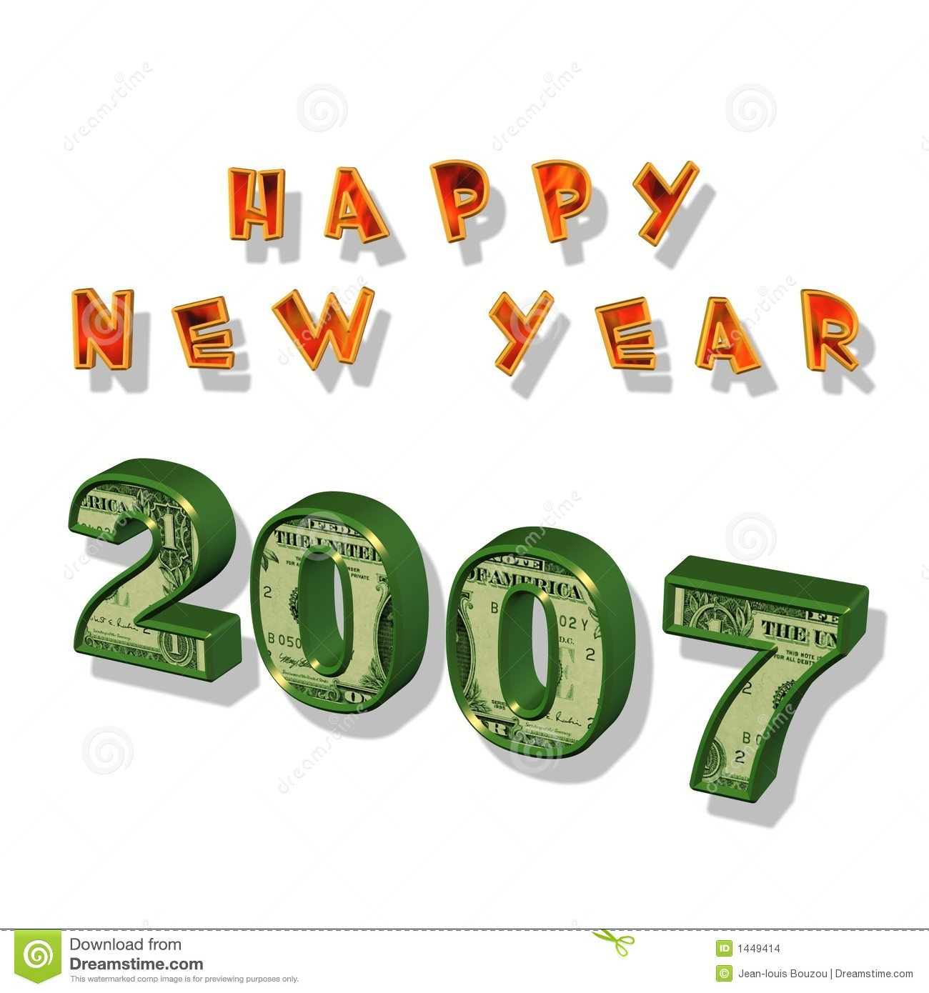 Happy New Year 2007 Stock Illustration  Illustration Of