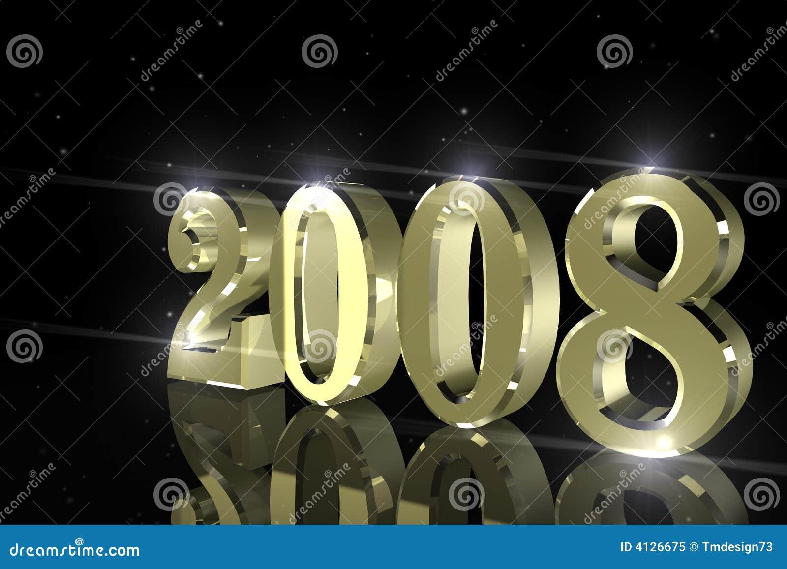 Happy New Year, 2008 Royalty Free Stock Photo - Image: 4126675