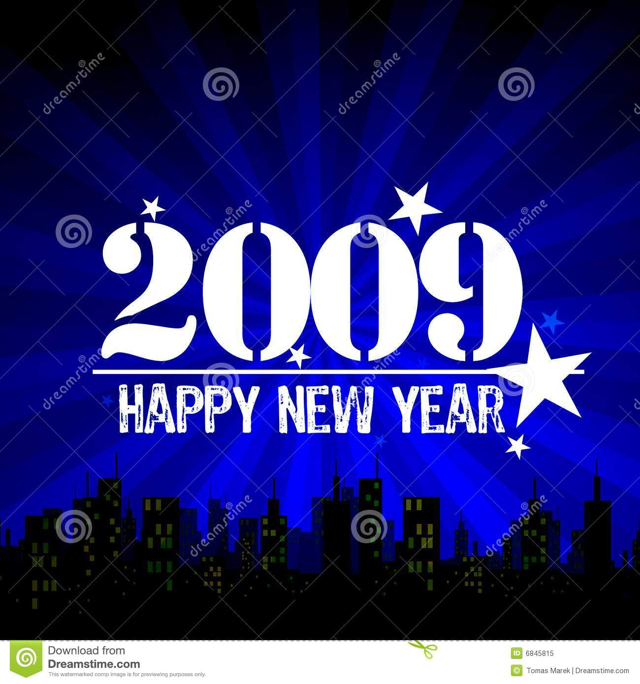 2009: Royalty Free Stock Photo: Happy New Year 2009. Image: 6845815