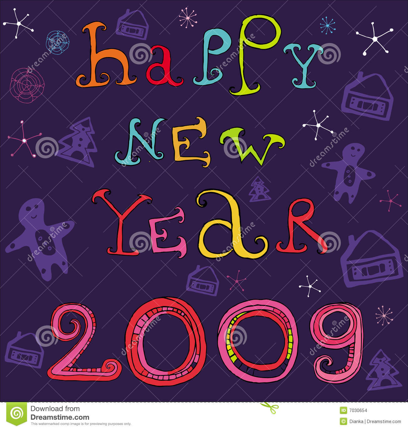 2009: Happy New Year 2009 Stock Vector. Image Of Copyspace