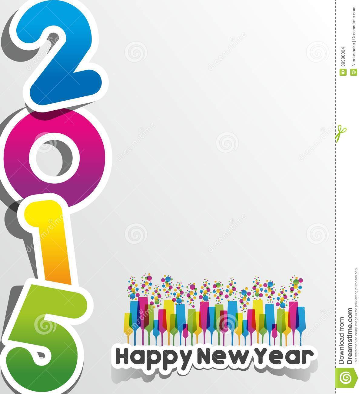 Happy new year 2015 greeting card stock vector illustration of happy new year 2015 greeting card calendar decoration kristyandbryce Choice Image