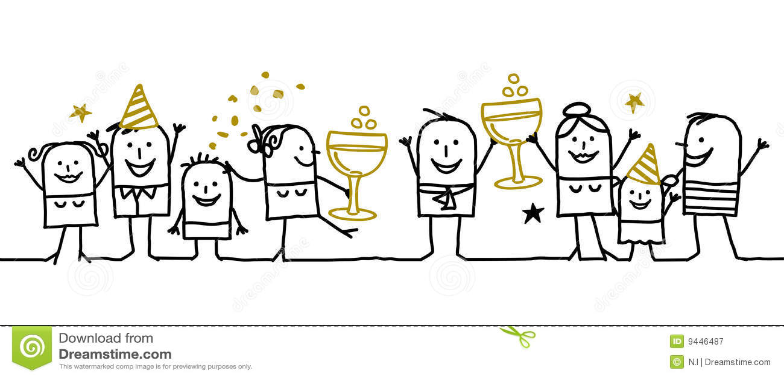 Happy New year ! stock vector. Illustration of festive - 9446487