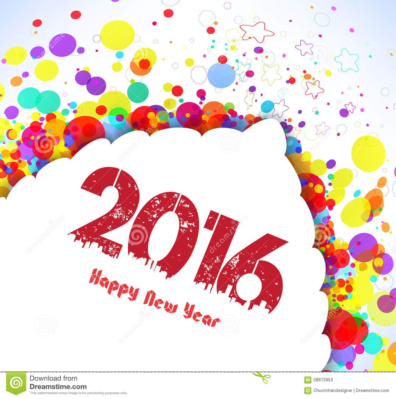 happy new year 2016 abstract colorful banner background