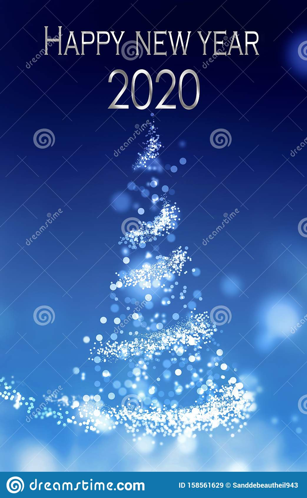 2020 happy new year on abstract magical christmas tree stock illustration illustration of illuminated light 158561629 https www dreamstime com happy new year abstract magical christmas tree happy new year abstract magical illuminated christmas tree image158561629