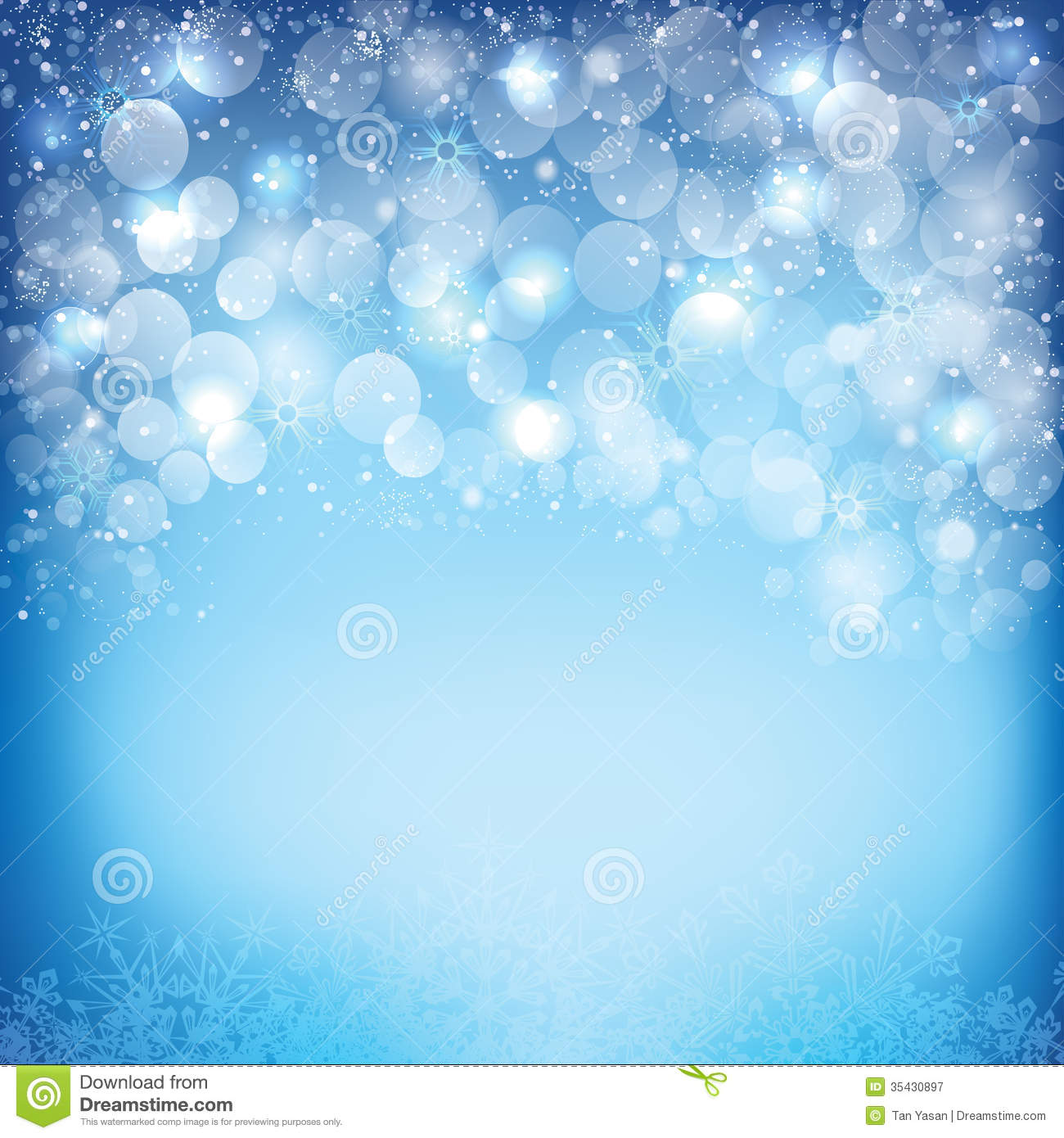 happy new year background with bubble and snows
