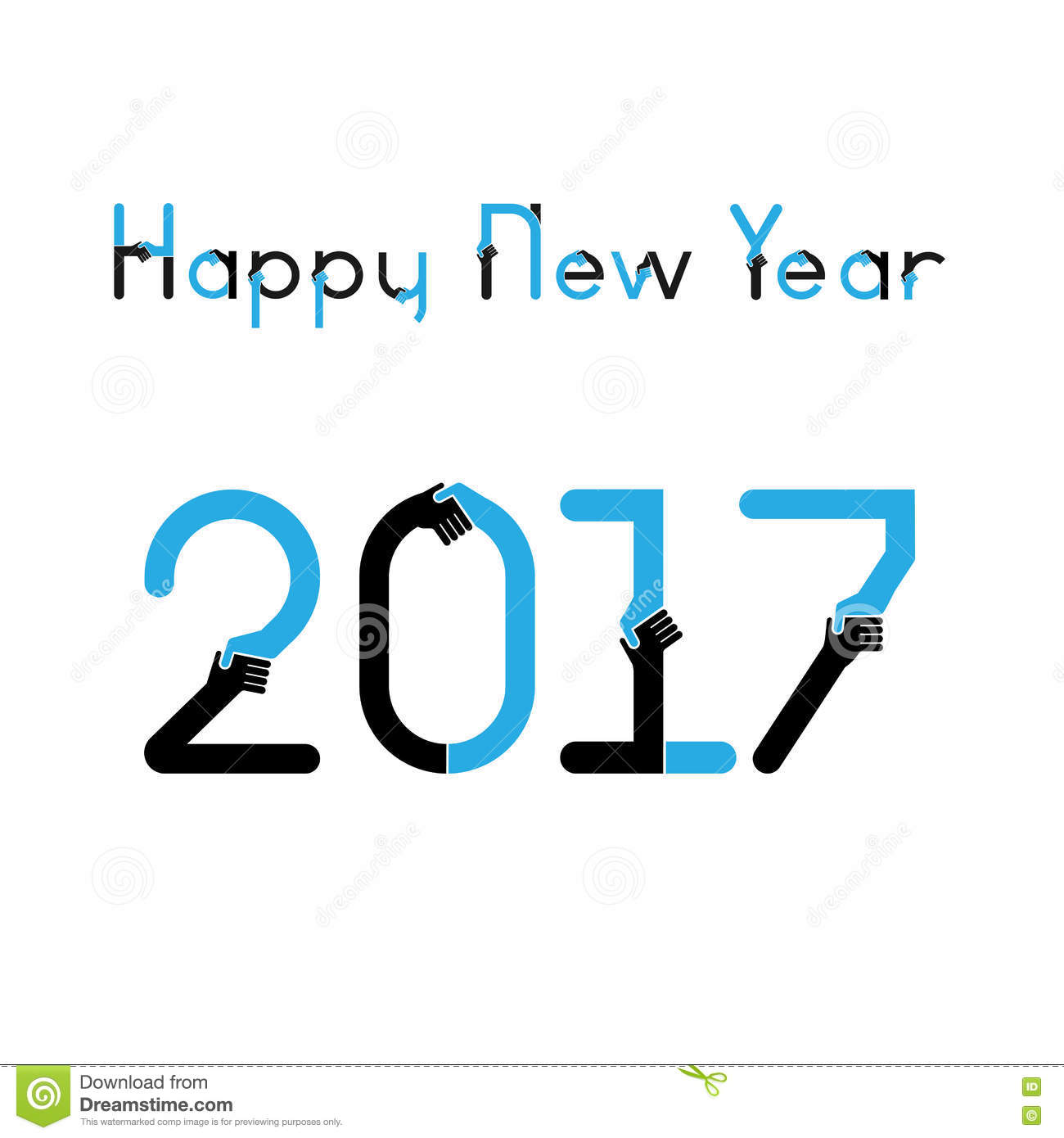 happy new year 2017 backgroundbusiness greeting card design