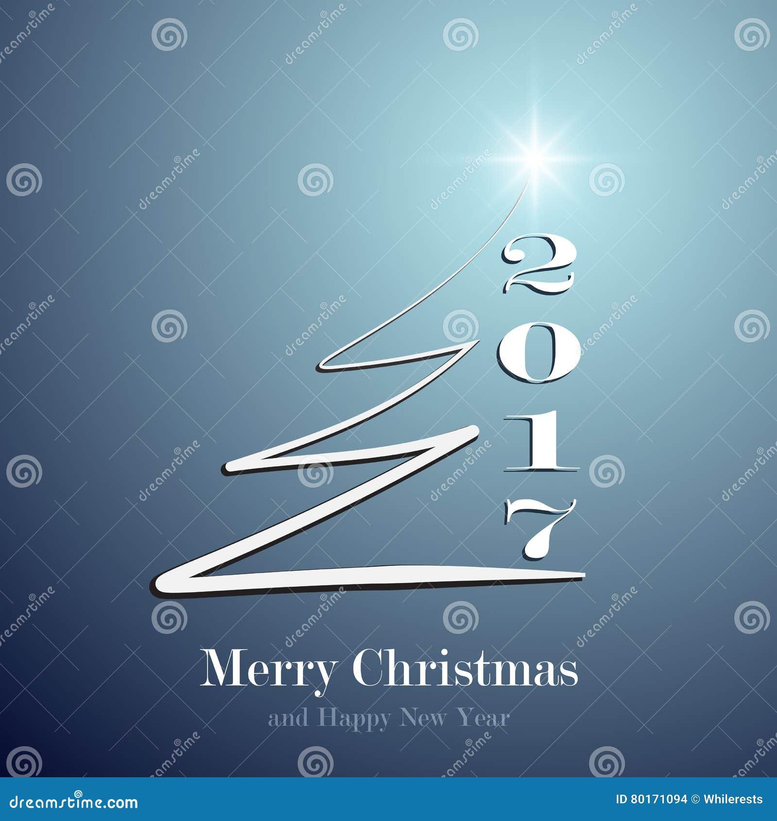 Happy New Year 2017 Background Calendar Decoration Greeting Card