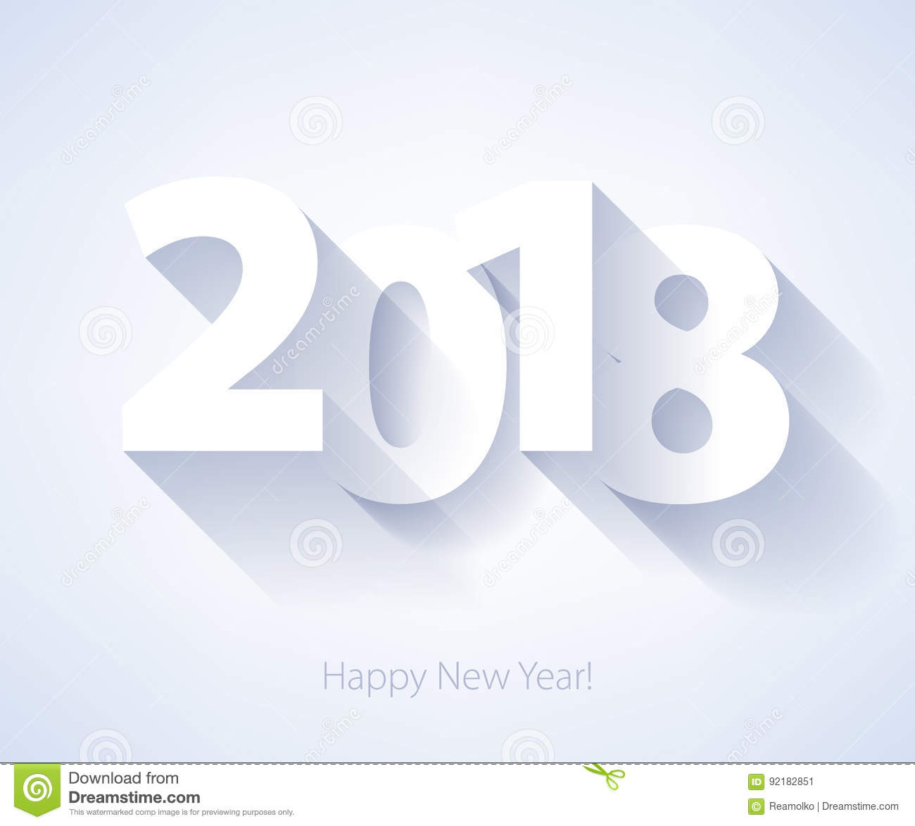 happy new year 2018 background