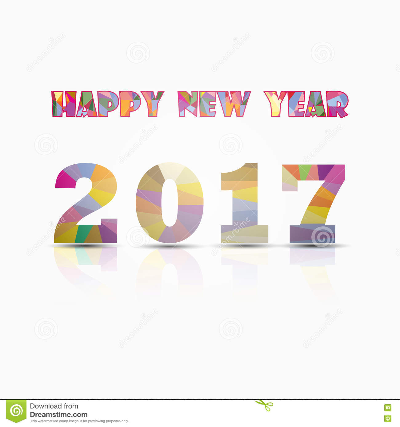 happy new year 2017 backgroundcolorful greeting card designvector illustration for holiday design party poster greeting card banner or invitation